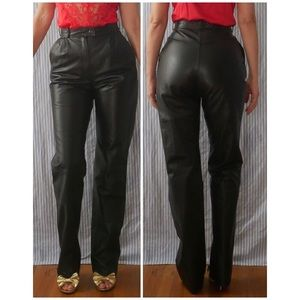 Amazing Vintage high waisted straight leg Leather